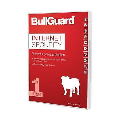 NEW! BullGuard Internet Security Latest Version 1 Year 3 PCs Users
