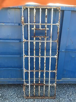 Vintage Antique Jail Door Old Steel Iron Prison Cell Architectural Salvage House