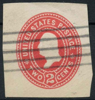 USA 1880's 2c Embossed Stationery Cut-Out #A93365