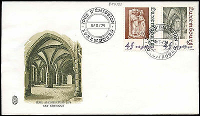 Luxembourg 1974 Gothic Art, Architectures FDC First Day Cover#C29070