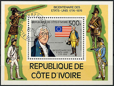 Ivory Coast 1976 SG#MS484 American Revolution Cto Used M/S #A92939