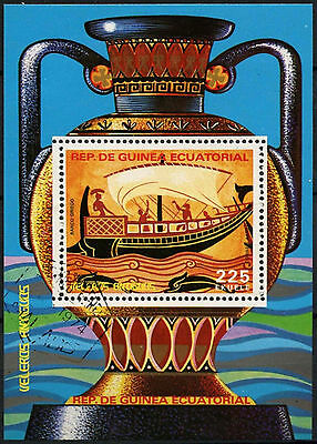 Equatorial Guinea 1970's Sailboats Cto Used M/S #A92721
