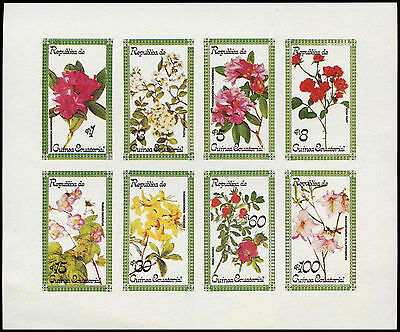 Equatorial Guinea 1970's Flowers MNH Imperf Sheet #C28998