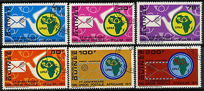 Guinea 1972 SG#786-791 African Postal Union Cto Used Set #A92743
