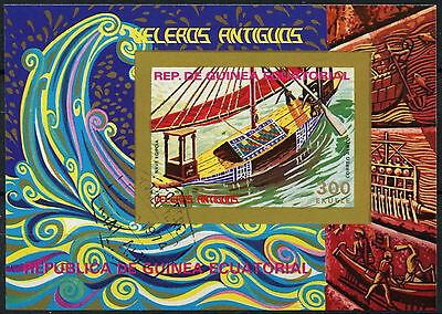 Equatorial Guinea 1970's Sailboats Cto Used Imperf M/S #A92720