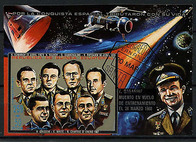 Equatorial Guinea 1970's Space Cosmonauts Cto Used Imperf M/S #A92654