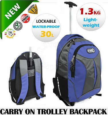 FIB Carry on Light weight Wheeled Trolley Bag Backpack
