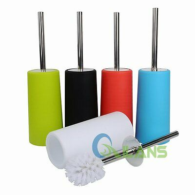 NEW Bathroom Accessories Toilet Brush Holder Stainless Steel Cleaning Set Tools