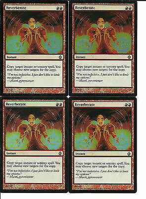 mtg Magic 4x Reverberate ( Reverberar ) Foil Fire & Lightning English Excellent