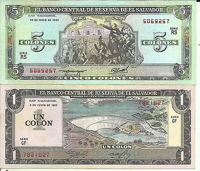 EL SALVADOR 1 COLON 1958 WITH THE  BUILDING PROJECT OF BCR WATERLOW /& SONS PRINT