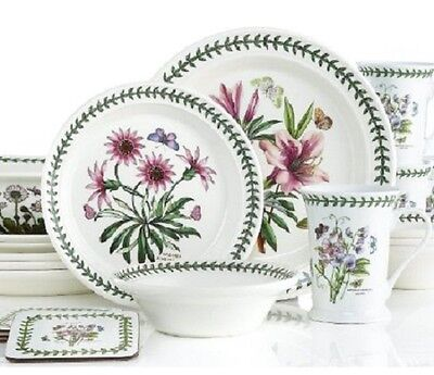 Botanic garden portmeirion 21 piece dinnerware set service for Portmeirion dinnerware set of 4 botanic garden canape plates