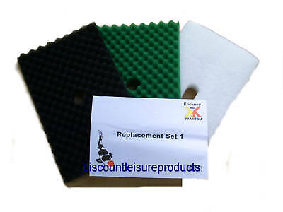 Kockney Koi Yamitsu Replacement Mega Filter Foams Set 1 Garden Fish Pond Media