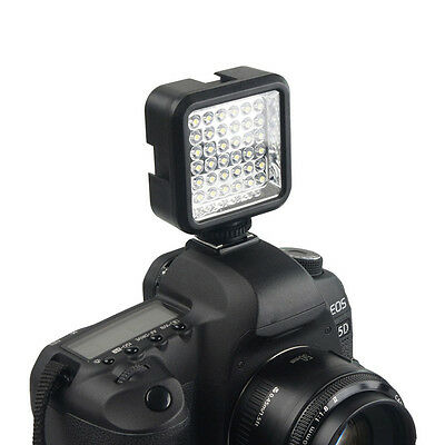 36 LED Video Light Lamp 4W 160LM + Charger for Canon DV Camcorder Camera