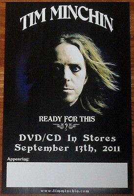 TIM MINCHIN Ready For This Ltd Ed Discontinued RARE Poster NEW! Comedy Rock Live