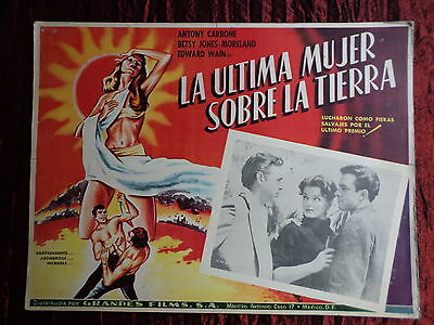 Last Woman On Earth- Original Mexican Lobby Card - Anthony Carbone - Betsy Jones