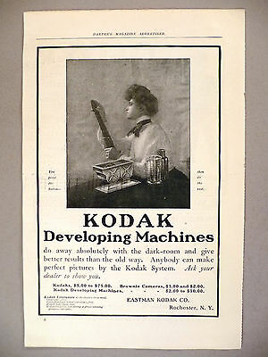 Kodak Camera PRINT AD - 1903 ~ Developing Machine