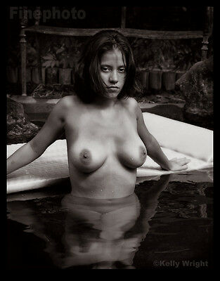 TIA Original Signed FEMALE NUDE Lagoon Breasts Fine Art Photograph KELLY WRIGHT