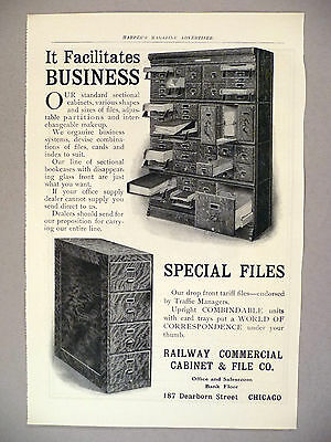Railway Commercial Cabinet & File Co. PRINT AD - 1903 ~ filing cabinets