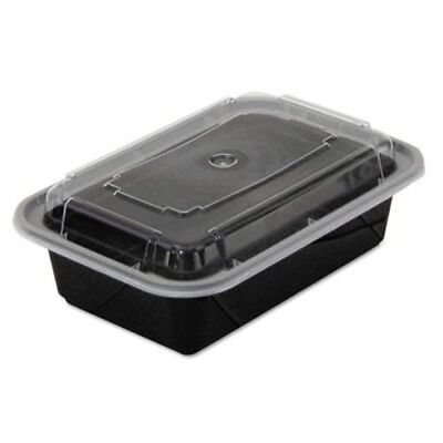 24-oz. Versatainer Rectangular  Food Containers, 150 Containers (PAC NC838B)