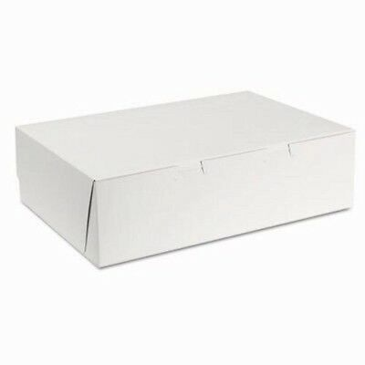 Sct Tuck-Top Bakery Boxes, 14w x 10d x 4h, White, 100/Carton (SCH1025)