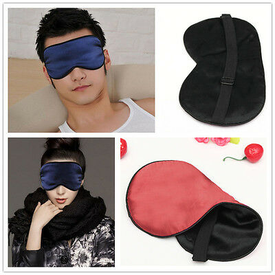 Pure Silk Sleep Eye Mask Padded Shade Cover Travel Relax Aid Blindfold hot style