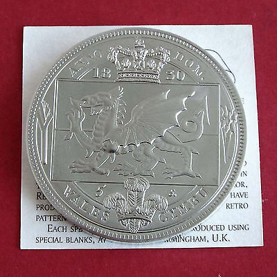 Wales William Iiii 1830 Pewter Proof Pattern 5 Shillng Crown