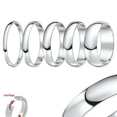 Titanium Court Shaped High Polished Wedding Ring Band '''All Width's & Size's'''