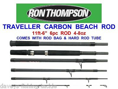 "RON THOMPSON 11ft-6"" TRAVELLER 6pc CARBON BEACH ROD SEA SURF FISHING BEACHCASTER"
