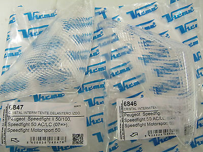 PEUGEOT SPEEDFIGHT 2 FRONT INDICATOR LENS CLEAR PAIR left & right new lens's