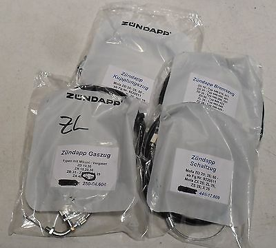 Set Cables for Zündapp ZL 25 - Complete - Made in Germany