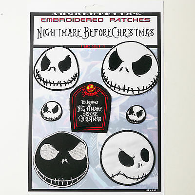THE NIGHTMARE BEFORE CHRISTMAS Patches - Iron-On Patch Mega Set #42 - FREE POST