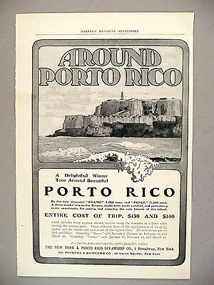 Puerto Rico PRINT AD - 1904 ~ New York & Porto Rico Steamship Co.