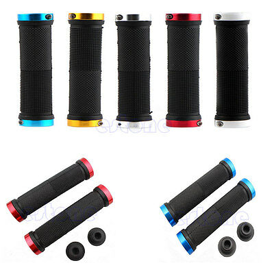 1 Pair Cycling Lock-on Handle Grips For Bicycle Road MTB BMX Bike Handlebar New