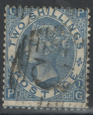 SG118 2/- Dull Blue Used Abroad Constantinople British Levant good used.
