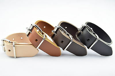 """UTILITY STRAP REAL LEATHER 25mm (1"""") HEAVY DUTY NICKEL BUCKLE VARIOUS LENGTHS"""