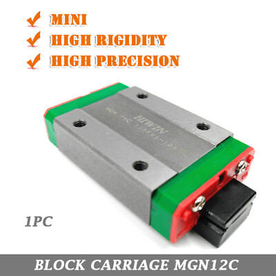 MGN12C Rail Slider Linear Block Carriage for 3D Printer DIY Router Milling