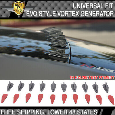 Universal Roof Air Vortex Generator Diffuser VG EVO Style 10 Pcs Carbon Look PP