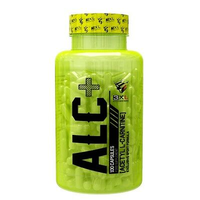 ALC + 100Caps  3XL NUTRITION ACETIL L- CARNITINA QUEMAGRASAS