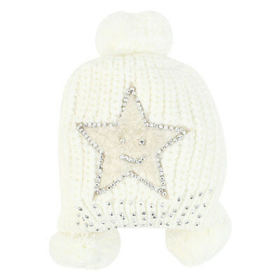 Women Ribbing Braided Soft Knitting Warm Sweet Hat White