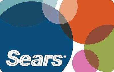 Sears Gift Card - $25 Mail Delivery
