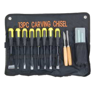 13 Pc Wood Carving Professional Chisels Hand Tools Quality Woodworking Gouges