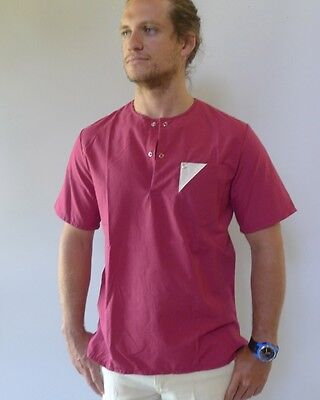 Vintage retro 80s unused S Golden Breed mens shirt top as new red
