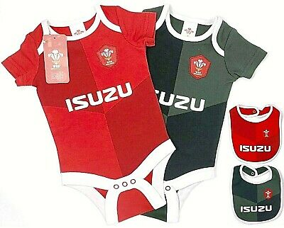 2020 Wales Rfu Rugby Babies Body Pram Suit Short Sleeve Baby Grow Vest World Cup
