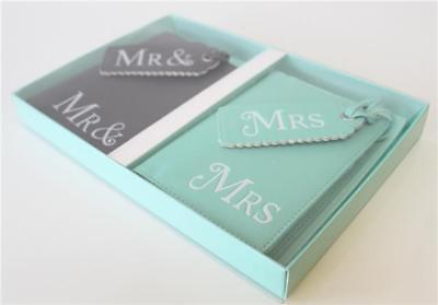 Mr & Mrs passport covers Luggage Tags Wedding Valentines Newly Weds present