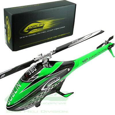 Sab Goblin 380 Flybarless Electric Green / Carbon Edition Helicopter Kit w/Blade