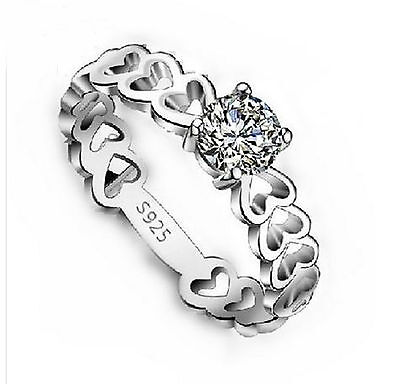 ½ ct Diamond 925 Sterling Silver Love Wedding Ring + FREE SHIPPING