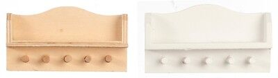 Kitchen Wall Shelf In White Or Bare Wood, Dolls House Miniature. 1.12 Scale