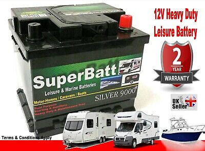 12V 50AH SuperBatt LH50 Leisure Battery Caravan Campervan Marine Boat