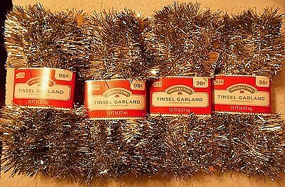 4  Packs  of   Christmas  Decorations  Tinsel Garland  ( 1476 )