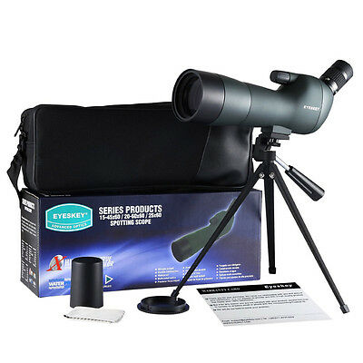 Hot Sale Waterproof Angled Spotting Scopes 20-60x60 Zoom Telescope with Tripod